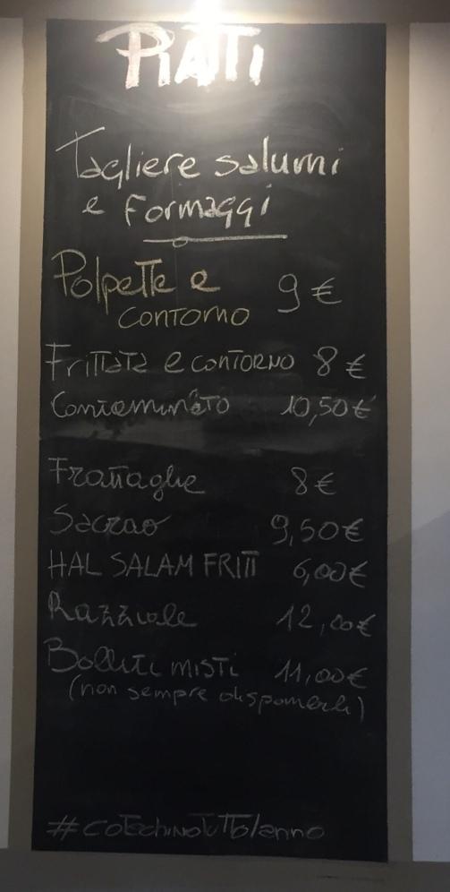 menu piatti